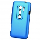 Protective Aluminum + Silicone Back Case for HTC EVO 3D - Blue