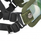 Tactical Steel Mesh Protective Mask for War Game (Random Color)