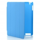Protective ABS Back Case w/ Smart Cover for iPad 2 - Blue