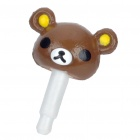 Bear Style 3.5mm Earphone Jack Anti-Dust Kit - Brown
