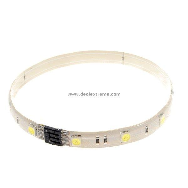 SMD 12-LED Extendable Light Strip (30cm / White / 12V)