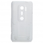 Mesh Protective PC Back Case for HTC EVO 3D / G17 - White