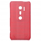 Mesh Protective PC Back Case for HTC EVO 3D / G17 - Red