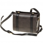 Vintage Protective PU Leather One Shoulder Camera Carrying Bag - Taupe