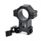 30mm Flashlight Laser Sight Mount Holders for Rail Gun - Black (2PCS)