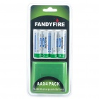 "FandyFire Rechargeable 1.2V ""2800mAh"" Ni-MH AA Batteries (4-Piece)"