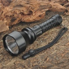 NEW-C20 CREE Q5 3-Mode 210-Lumen LED Flashlight with Clip (1 x 18650)
