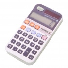 Creative Calculator Style TPU Back Case + Protective Film for Iphone 4 - White