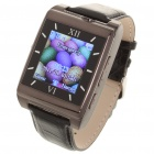 "Watch Style 1.4"" Touch TFT Quadband GSM Cell Phone w/ Bluetooth + FM + Java - Black"