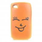 Creative Cake with Face Expression Style Soft Sponge Protective Back Case for Iphone 4 - Shy