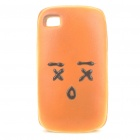 Creative Cake with Face Expression Style Soft Sponge Protective Back Case for Iphone 4 - Muzzy