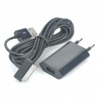AC Power Adapter + USB Data/Charging Cable Kit for iPod/iPhone 3GS/4 - Black