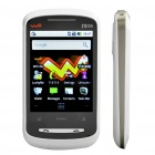 "ZTE X850 3G WCDMA 2.8"" Resistive Android Eclair Smart Phone w/ Wifi+ 2G TF+ GPS - White"