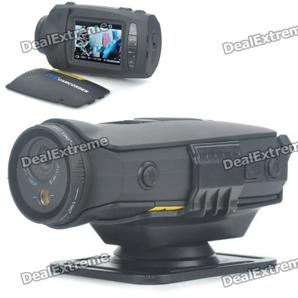 "1080P 5MP Wide Angle Waterproof Action Video Camera with HDMI/AV Out/TF (2.0"" TFT LCD)"