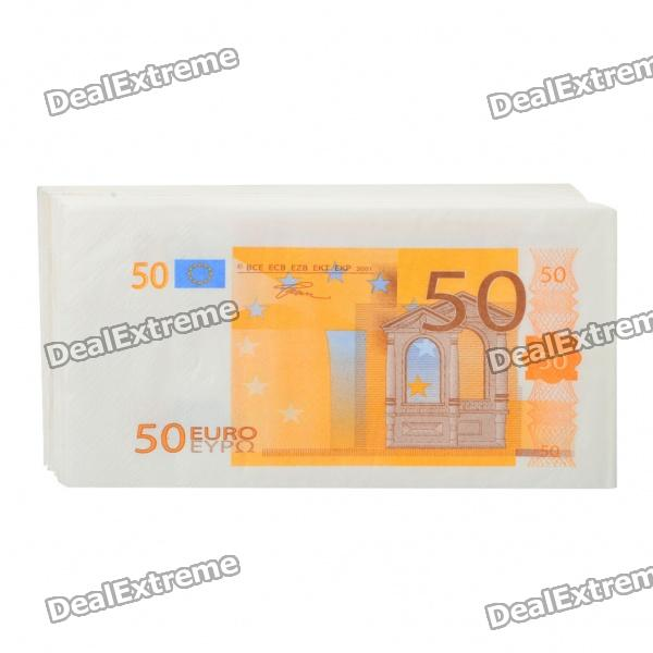 Creative Disposable 50 Euro Style Napkin Paper (20-Piece Pack)