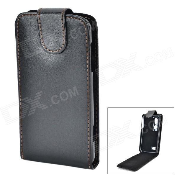 купить Protective PU Leather Case for LG Optimus 3D P920 - Black недорого