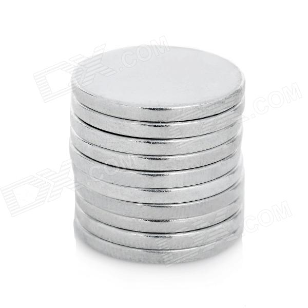 Super Strong tierras raras RE imanes (20 mm x 2 mm / 10-Pack)