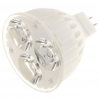 MR16 3W 6400K 200-Lumen 3-LED White Light Ceramic Bulb (DC 12V)