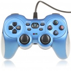 Dual Shock USB Joypad Gamepad für PC - Blue (160cm-Kabel)