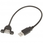 USB 2.0 Male to Female Cable w/ Mount Holder (30cm)