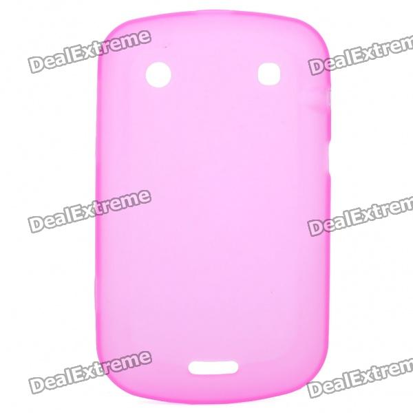 Protective PVC Back Case for BlackBerry 9900 - Translucent Pink