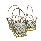 Cute Garden Baskets Candle Stand / Hanger (3-Pack)