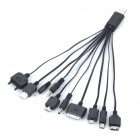Multi-functional 10-in-1 USB Charging Cables - Black