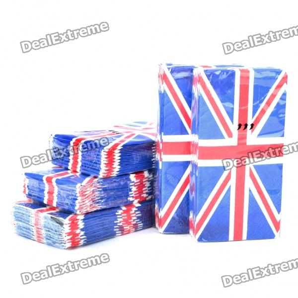 Creative Disposable Union Jack Style Napkin Paper (5-Pack)