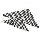 Multi-Purpose Grid Style Triangular Scarf Mask - Black + White (2 Piece Pack)