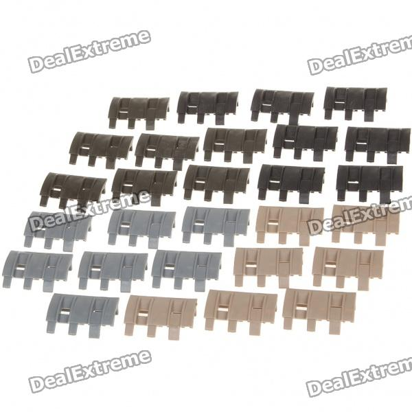 Detachable 21mm Magpul XTM Rail Panels Pat Pend (28-Piece)