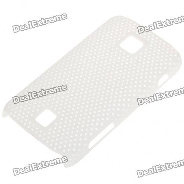 Mesh Protective PC Back Case for HuaWei C8600 - White
