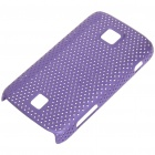 Mesh Protective PC Back Case for HuaWei C8600 - Purple