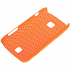 Mesh Protective PC Back Case for HuaWei C8600 - Bright Orange