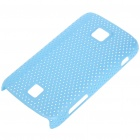 Mesh Protective PC Back Case for HuaWei C8600 - Light Blue