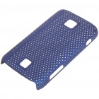 Mesh Protective PC Back Case for HuaWei C8600 - Dark Blue