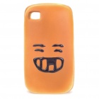 Creative Cake with Face Expression Style Soft Sponge Protective Back Case for Iphone 4 - Grin