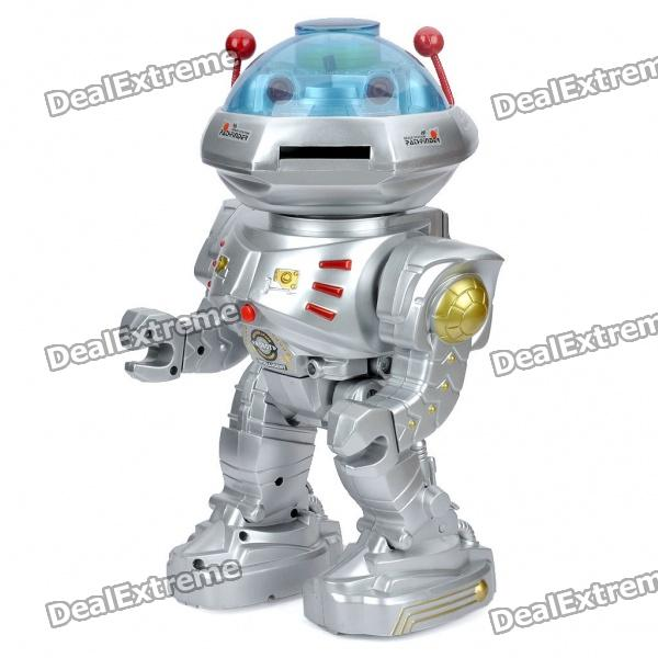 "Multi-Function R/C ""IQ"" Dancing/Walking/Talking Robot - Silver (4 x AA/2 x AA)"