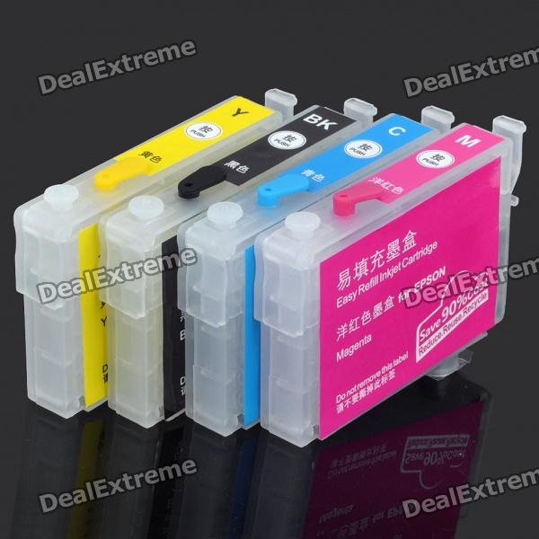 Replacement Refillable Ink Cartridges for Epson Stylus NX125/Workforce 320/323 + More