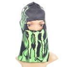 Stylish Polyester Fiber Headgear - Green + Black