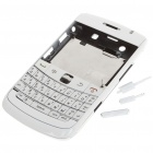 Replacement PC Housing Case w/ Keyboard for BlackBerry 9700 - White