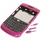 Replacement PC Housing Case w/ Keyboard for BlackBerry 9700 - Deep Pink