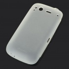 TPU Super Matte Finish Protective Back Case for HTC Desire S - White