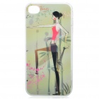 0.5mm Ultra Thin PC 3D Protective Case for Iphone 4 - Slimming Girl