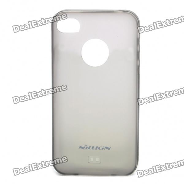 Protective Matte Frosted Soft Back Case w/ Screen Protector + Cleaner for Iphone 4