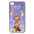 0.5mm Ultra Thin PC 3D Protective Case for iPhone 4 - One Piece Luffy