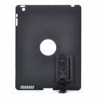 Shoulder Strap Protection Back Cover for iPad 2 - Black
