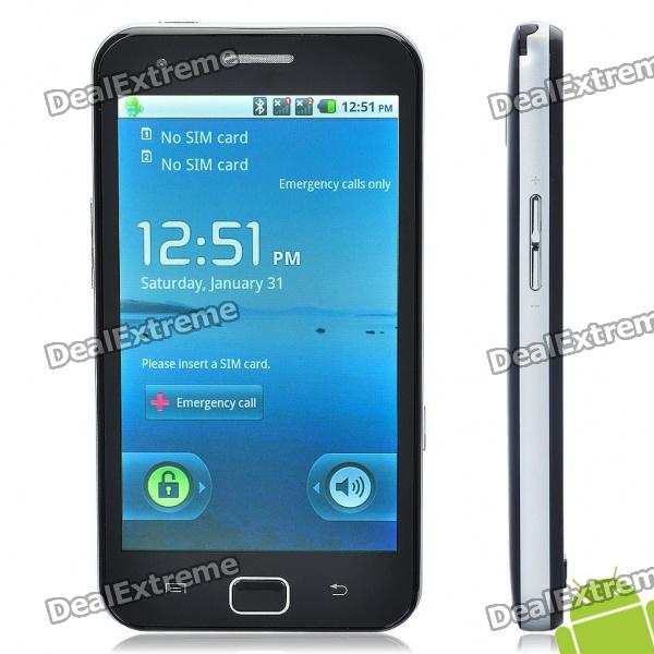 "A910 4.3"" Touch Screen Android 2.2 Dual SIM Quadband TV Cell Phone w/ Wi-Fi + Java + GPS"