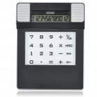 Multifunctional iPad Style Mouse Pad + Solar Power Calculator + Mini Speaker with 4 USB Hubs - Black