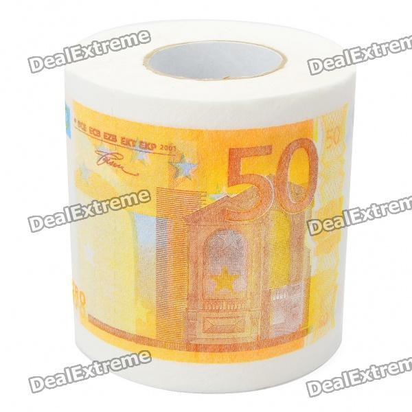 Creative 50 Euro Bill Pattern Roll Tissue - White + Orange bill schley the unstoppables tapping your entrepreneurial power
