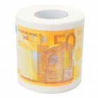 Creative 50 Euro Bill Pattern Roll Tissue - White + Orange
